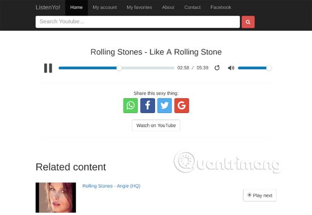 Trang web Listenyo.com