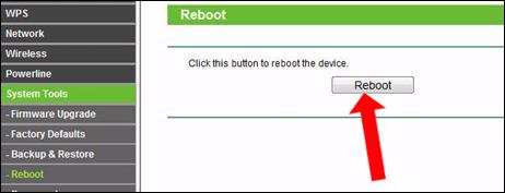 Reset lại modem WiFi