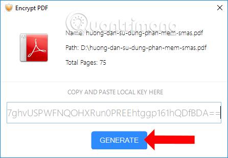 Tạo mã hóa file PDF