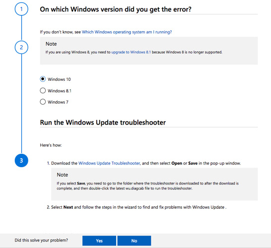 Cách sử dụng Windows Update Troubleshooter