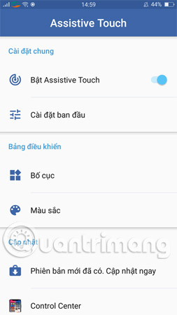 Bật Assistive Touch