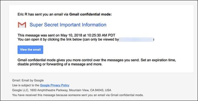 Cách nhận email ở chế độ bảo mật