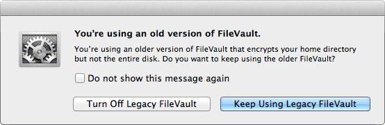 Mac OS X FileVault