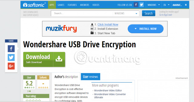 Tải Wondershare USB Drive Encryption
