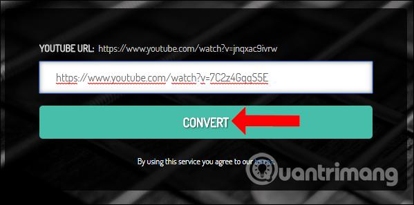 Nhập URL video trên YouTubeMP4
