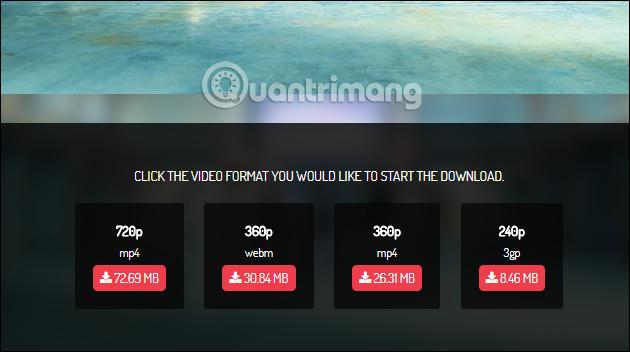 Chọn chất lượng video YouTube