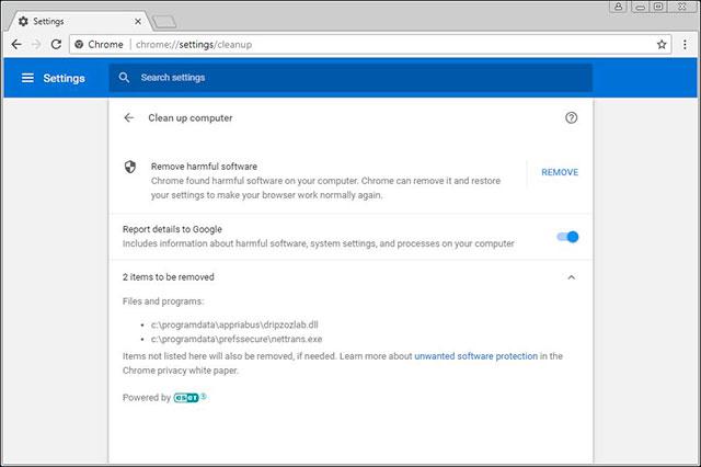 Phát hiện và gỡ bỏ phần mềm lén dùng Chrome bằng công cụ Chrome Cleanup Tool