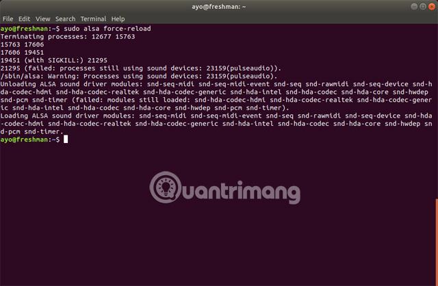 Cách sửa lỗi không có âm thanh trong Ubuntu