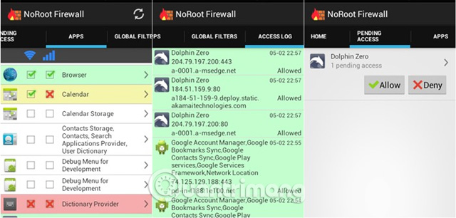 Ứng dụng NoRoot Firewall