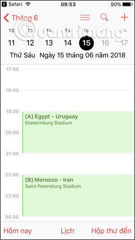 Xem lịch thi đấu World Cup 2018