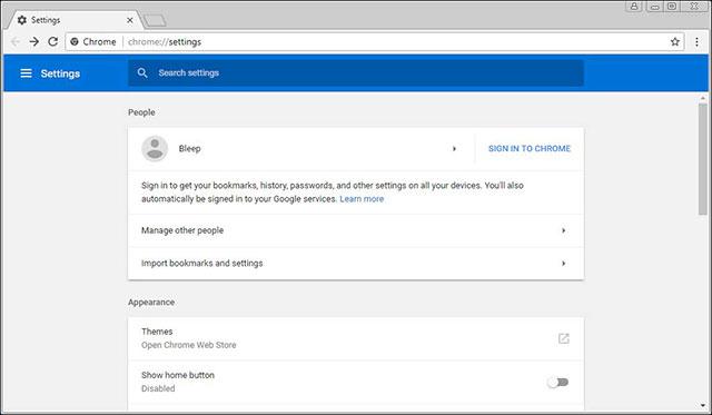 Đăng nhập vào Chrome bằng tài khoản Google