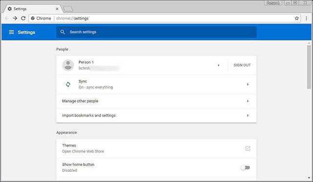 Đăng nhập và đồng bộ mật khẩu với Chrome