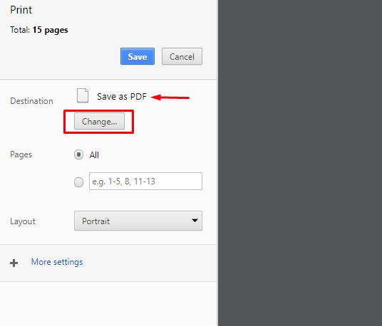 Lưu nội dung toàn bộ trang web dưới dạng PDF