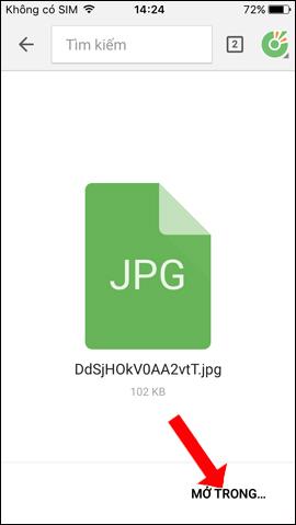 Mở file trên điện thoại