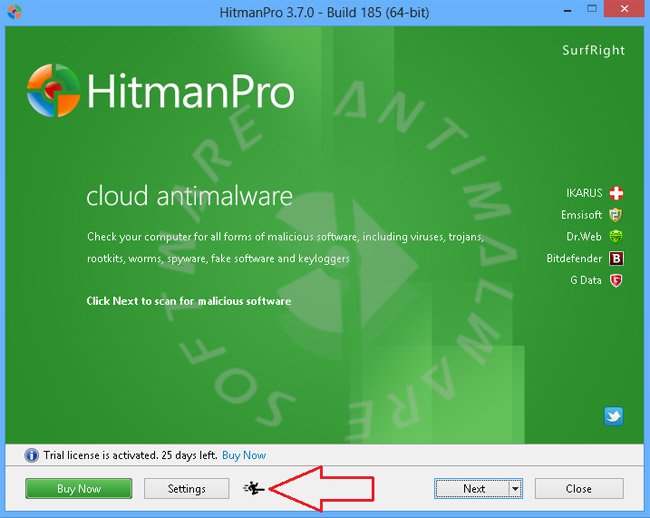 Khởi động HitmanPro