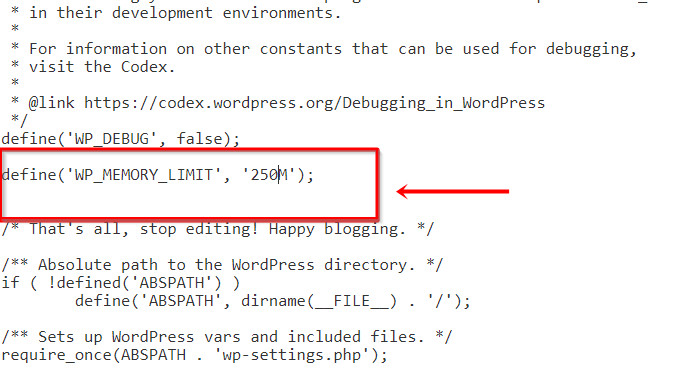 Thêm code trên dòng That's all, stop editing. Happy blogging