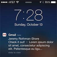 Cách nhận thông báo email từ Gmail trên iPhone