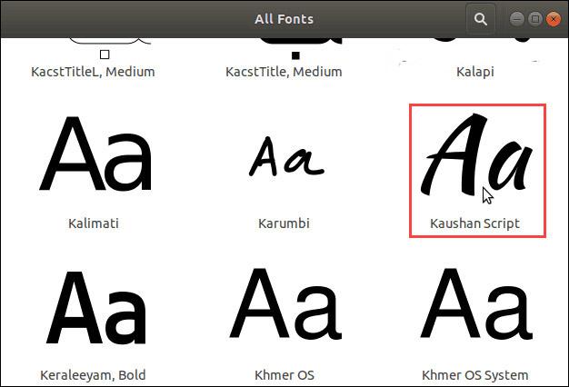 Cách cài đặt và xóa bỏ font chữ trên Linux - Ảnh minh hoạ 5