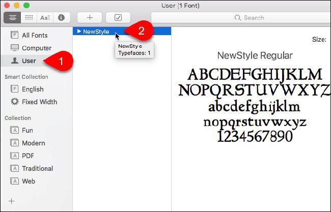 Cách cài đặt và xóa bỏ font chữ trên Mac - Ảnh minh hoạ 3