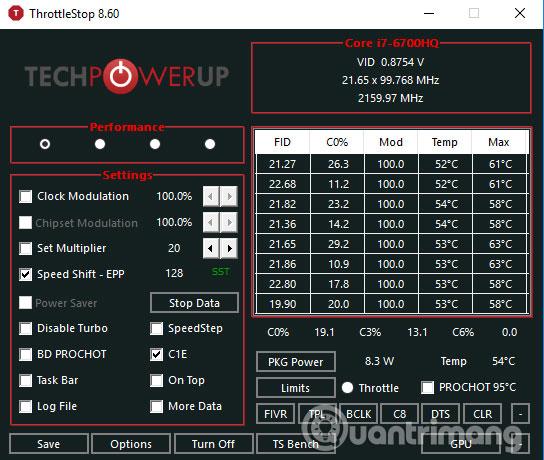 Hướng dẫn undervolt giảm nhiệt độ CPU