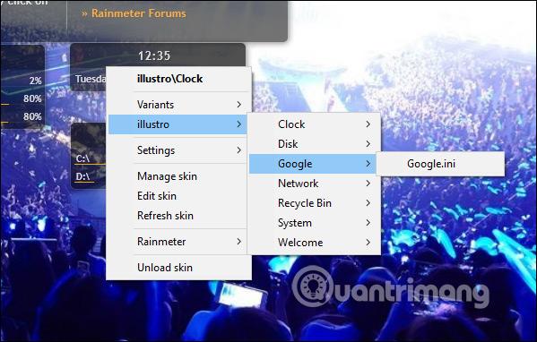 Thêm widget trên màn hình