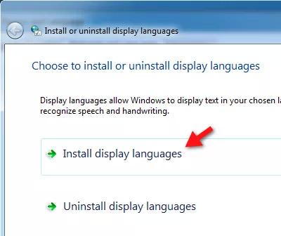 Cài gói ngôn ngữ bổ sung
