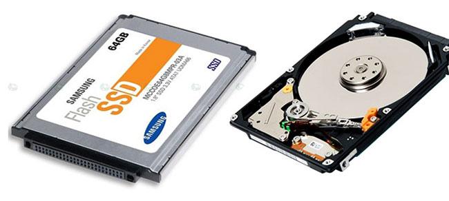 Giá thành của SSD và HDD