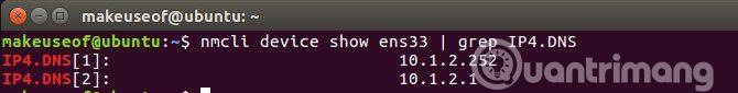 Lấy địa chỉ DNS được liên kết với giao diện