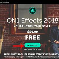 Mời tải phần mềm chỉnh sửa ảnh On1 Effects 2018 giá 59,99USD, đang miễn phí trọn đời