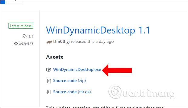 Tải công cụ WinDynamicDesktop