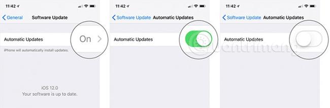 Tắt cập nhật phần mềm tự động