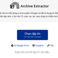 Archive Extractor - Công cụ giải nén trực tuyến miễn phí với hơn 70 định dạng tệp tin khác nhau