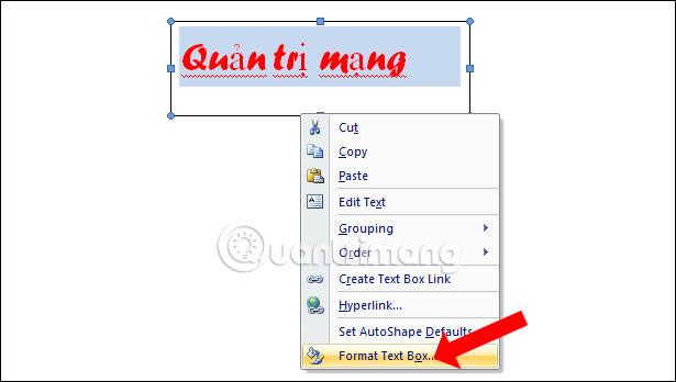 Điều chỉnh ô Text Box