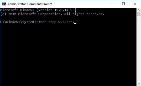 Bật lại các dịch vụ Windows Updates