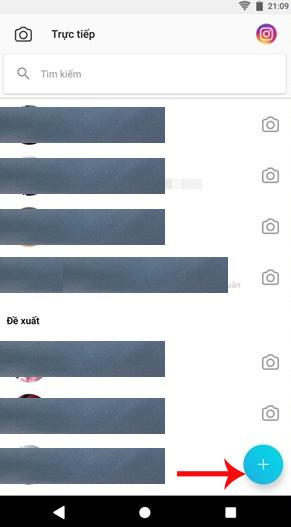 Danh sách các liên hệ mà bạn đã trò chuyện trước đó