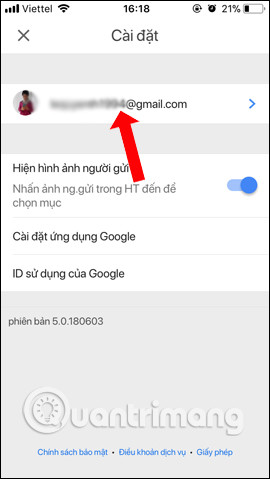 Chọn email