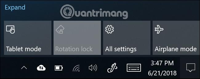 Cách tắt tự động xoay màn hình trong Windows 10