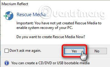 Tạo rescue media