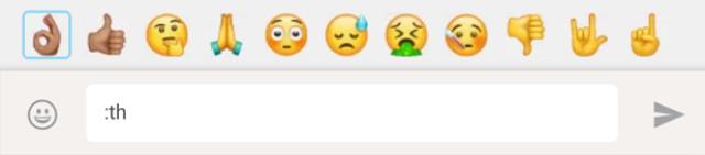 Biểu tượng cảm xúc khi gõ :th