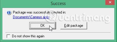 Tạo thành công