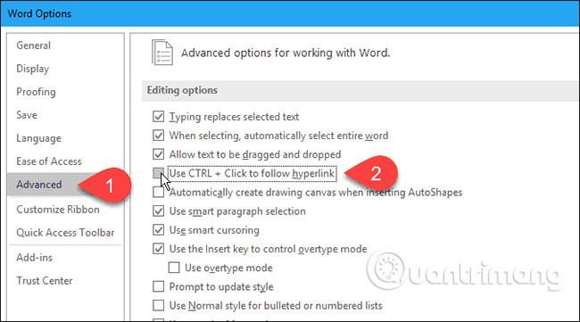 Cách mở liên kết trong Word, Outlook không cần phím Ctrl - Ảnh minh hoạ 4