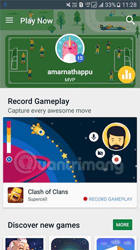 Chạm vào Record Gameplay