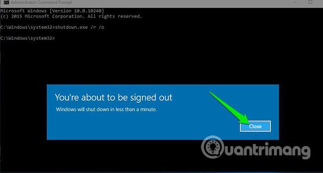 6 cách để truy cập menu Boot Options trong Windows 10