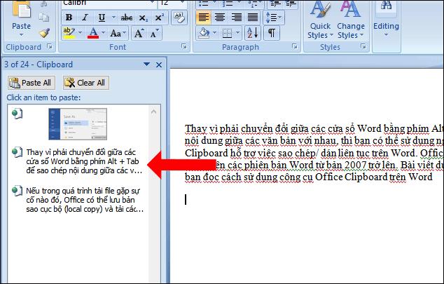 Cách dùng Office Clipboard tăng tốc sao chép trên Word - Ảnh minh hoạ 2