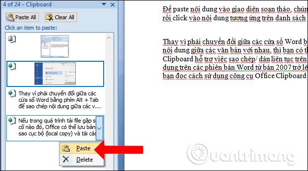 Cách dùng Office Clipboard tăng tốc sao chép trên Word - Ảnh minh hoạ 3