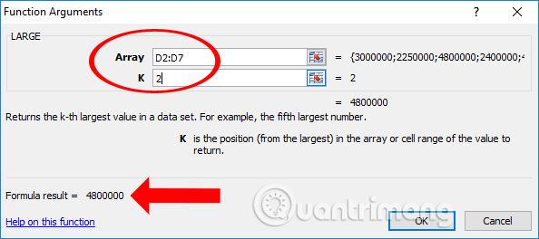 Cách tìm giá trị thứ N trong Excel - Ảnh minh hoạ 5