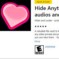 Mời tải Hide Anything, ứng dụng bảo mật giúp file trên Windows 10 giá 19,99USD, đang miễn phí