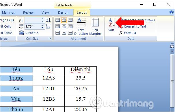 Cách sắp xếp tên theo thứ tự chữ cái trong Word - Ảnh minh hoạ 2