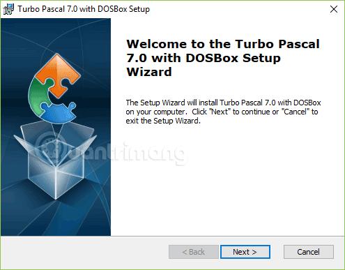 Giao diện cài Pascal trên Windows 10