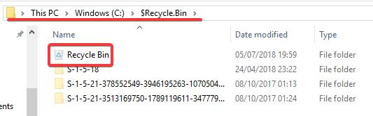 Truy cập thư mục $Recycle.Bin